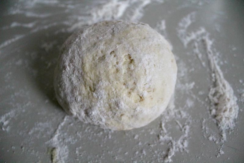 Fluffy biscuit dough ball
