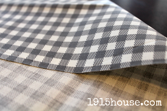 Oilcloth fabric is perfect for dining room chairs - it wipes up easily and makes clean up a breeze.