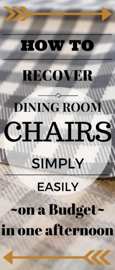 "Recovering old dining room chairs is a breeze using this method. No special tools needed! In one afternoon, you can have a ""new"" set of chairs!"
