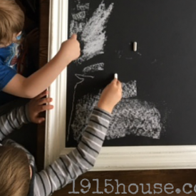 super easy DIY chalkboard
