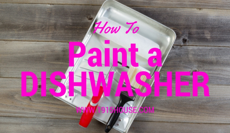 How to paint your dishwasher!
