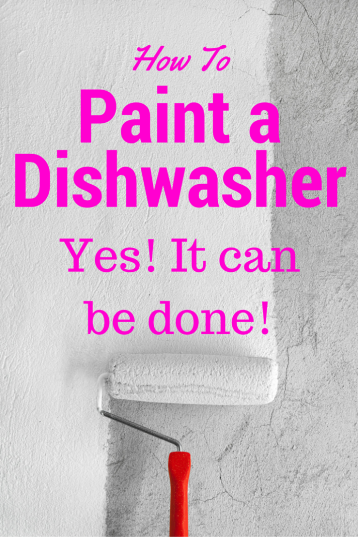 Don't get rid of your old dishwasher if it still runs great! Give it a quick update with a fresh coat of paint instead!