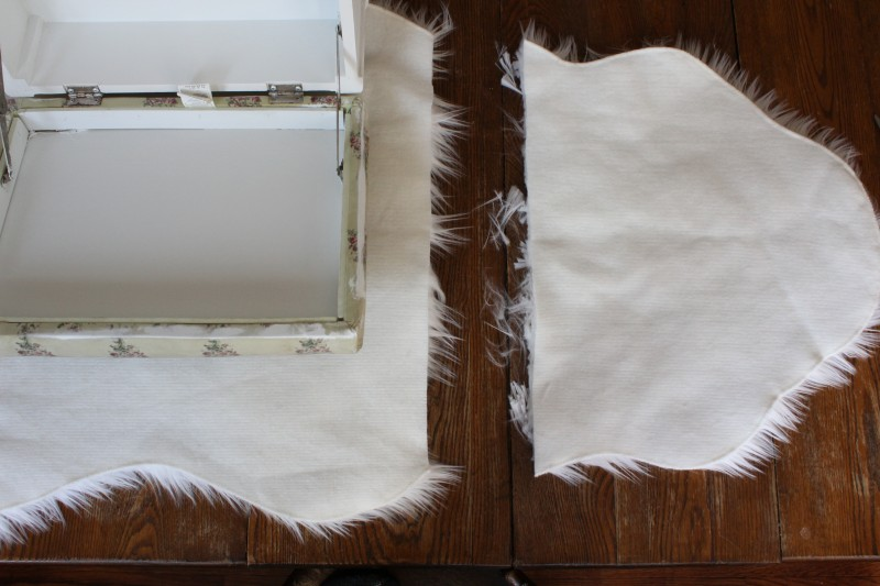 How to recover your footstool in faux fur