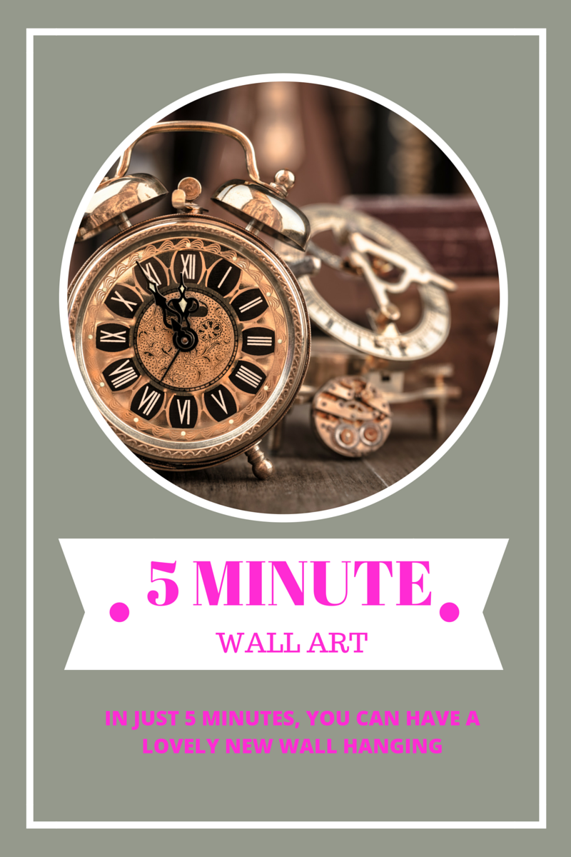 How to make new wall art in just five minutes. It doesn't get any easier than this...
