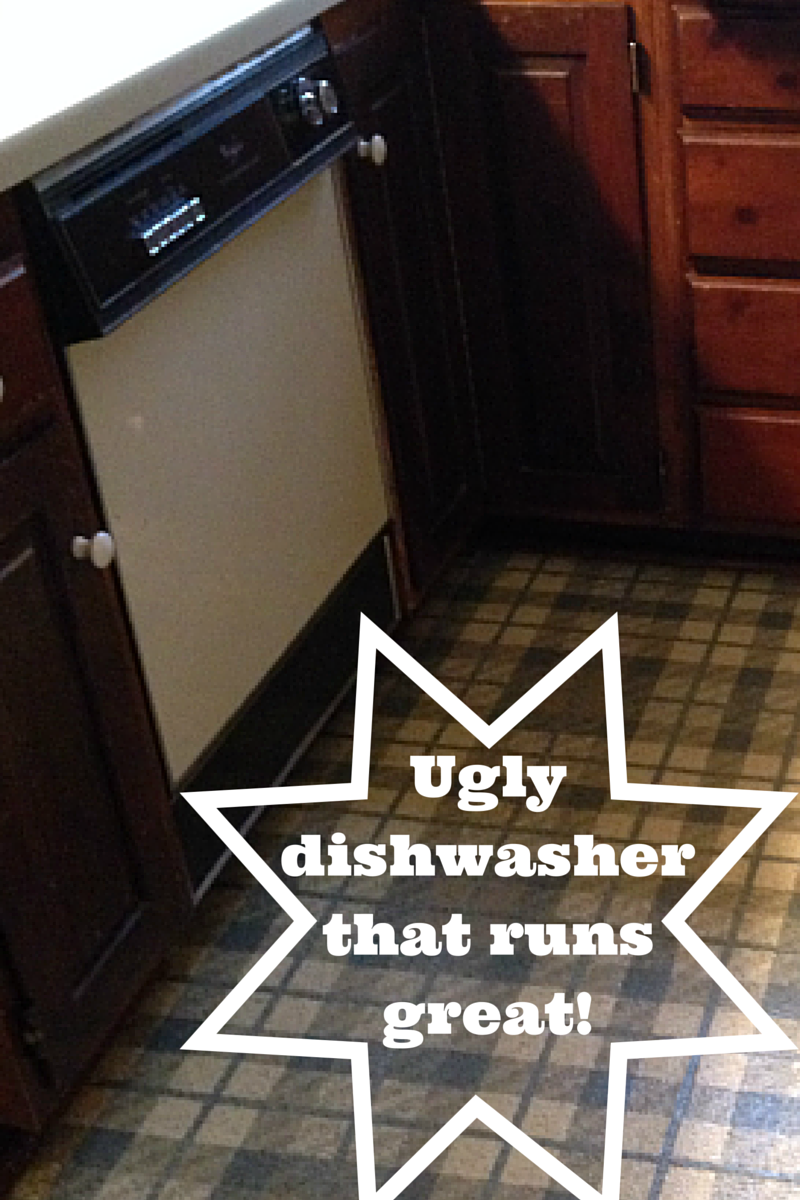 Transform your nasty old dishwasher with a coat of paint!