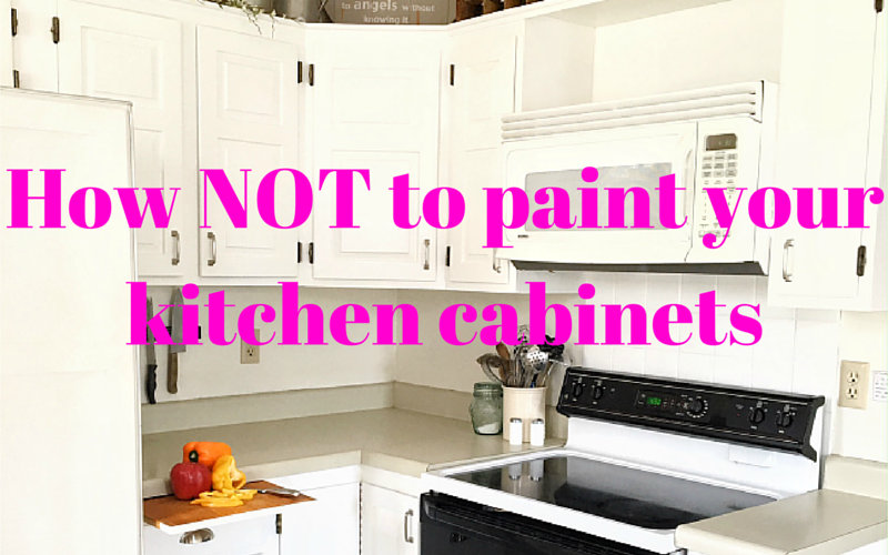 How NOT to Paint Your Kitchen Cabinets - 1915 House