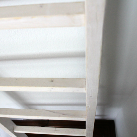 stained blanket ladder