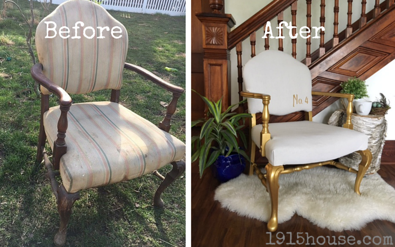 Drop Cloth Covered Chair