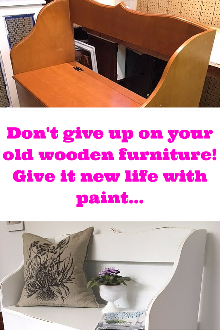 Have you got an old bench that is dated and not so cute anymore? Don't give up on it yet! A little paint will work wonders - and you'll get many more years of use out of a piece that is no longer ugly...but beautiful!