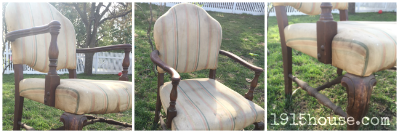 This chair went from drab to fab with a little paint and a new drop cloth cover!
