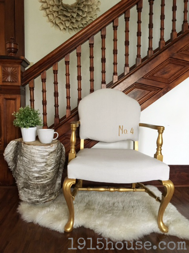 Don't throw out that old ugly chair!! With a little paint and some cheap drop cloth, you CAN have a gorgeous new chair that will bring a smile to your face and a great accent piece to your home.