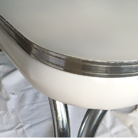 Paint that ugly old Formica table! Just be sure to use THIS paint!