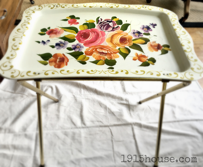 An Old Tv Tray Gets A Custom State Makeover For Just Pennies. Check Out The