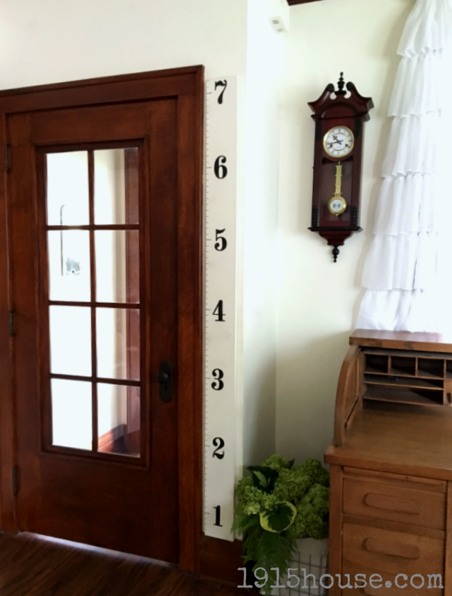 This simple growth chart takes one afternoon and simple supplies you probably already have on hand!