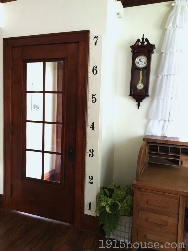 This simple growth chart takes only and afternoon and simple supplies you probably already have on hand!