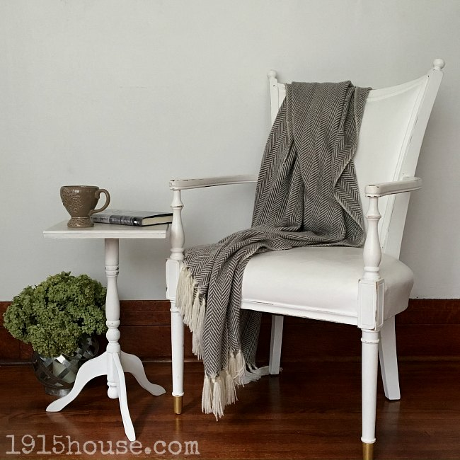 Something as simple as a small side table makes for a cozy spot to curl up - providing the perfect spot to set your cup of coffee or a great book.