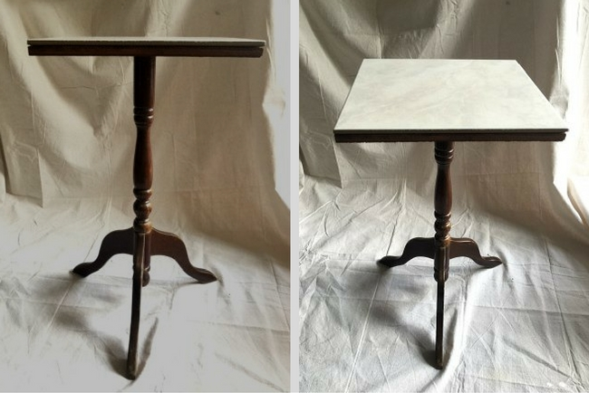 A side table can be found inexpensively in thrift stores and garage sales - pick one up and transform it with paint!