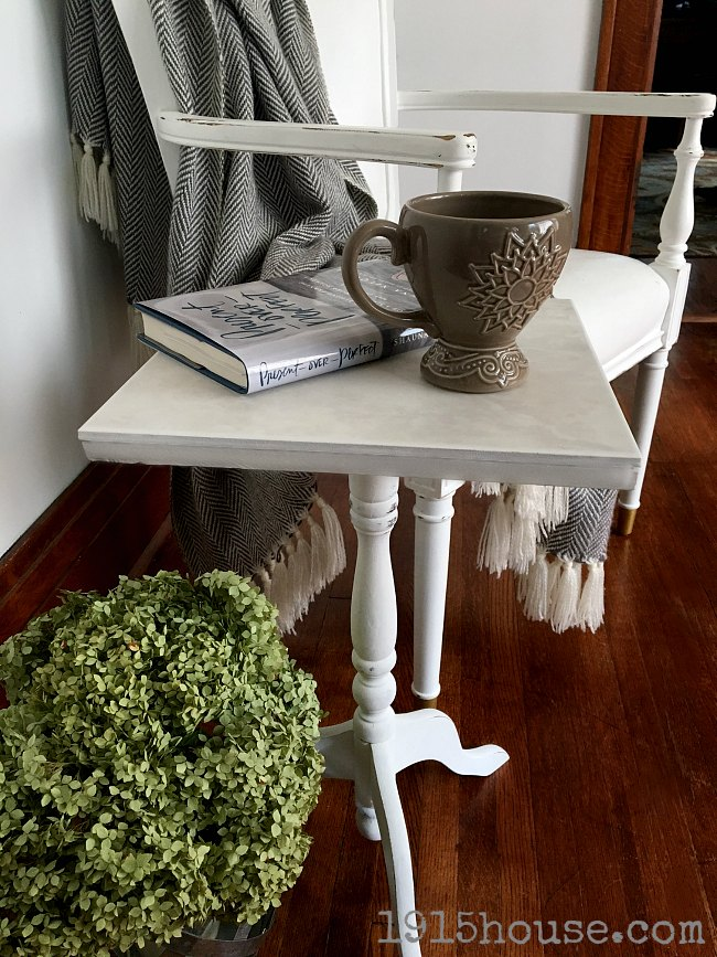 A side table is essential for making your home feel warm and welcoming.