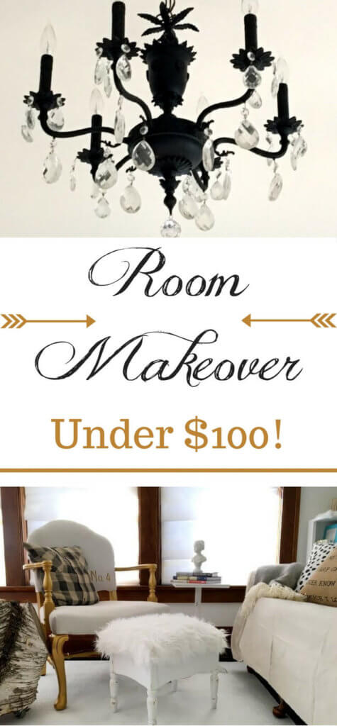 "With only $100 and a little DIY, any room really CAN be completely transformed!! Click to see the eyesore that was the ""before"" - and see how to transform a room with *only* $100! It CAN be done!"