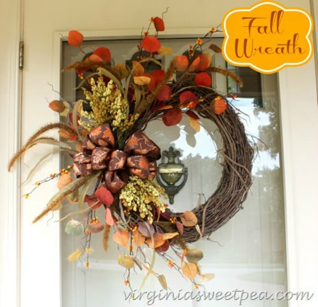 Woodsy and wild, this fall wreath makes such a statement on a front door! What a lovely way to welcome guests to your home-