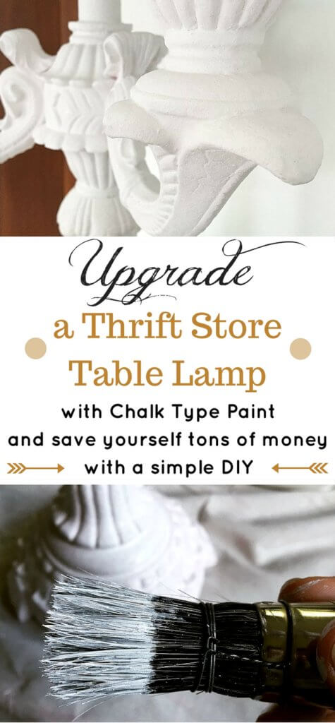 Buying table lamps at thrifts stores is the way to go for inexpensive lighting for your home! A quick coat of paint and you're good to go - saving yourself TONS of money! Definitely a DIY worth doing!