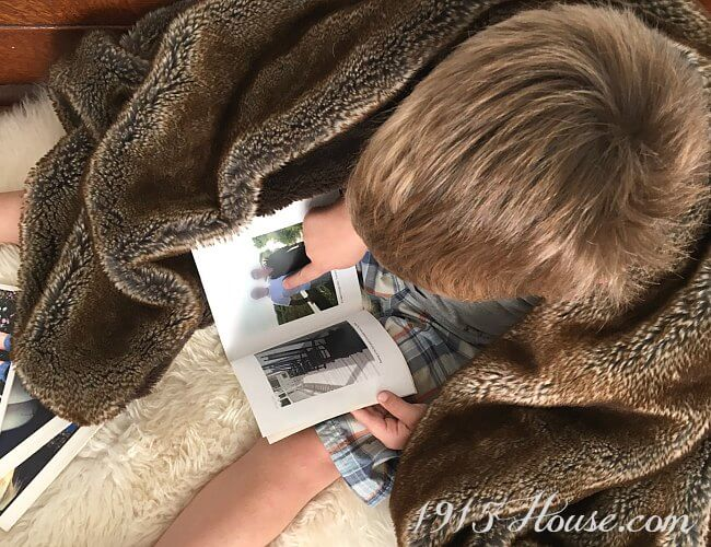 A luxurious faux fur blanket turns chilly fall evenings into cozy nights at home.