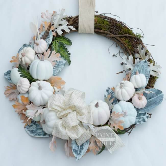 "This fall wreath is one that makes me think.""Why didn't I think of that""? Smart, and so incredibly stunning..."