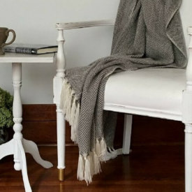 This little side table gets a quick and easy makeover in just a couple hours-