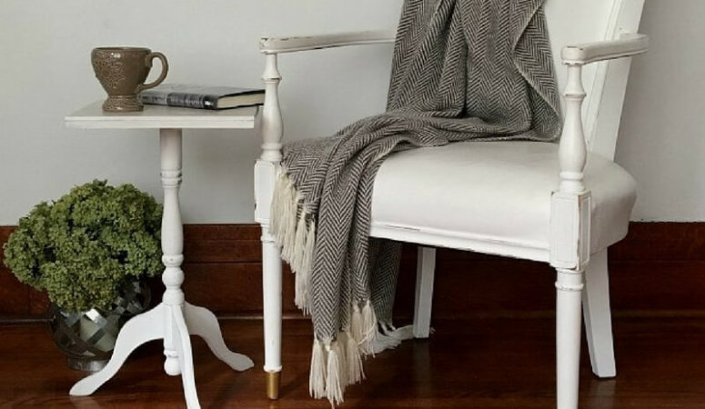 Side Table Makeover with Chalk Mix Paint