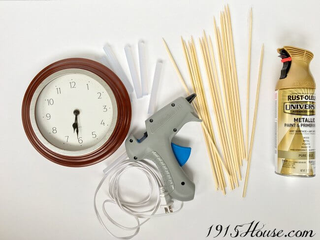 Turn any old clock into a sunburst clock for under $10! Such a fun and EASY project - with big impact...