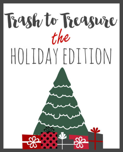 See the best Trash to Treasure Christmas decor ideas - all right here!
