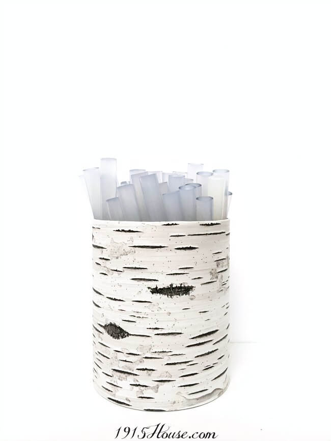 Organization DIY   Simple organization idea using recycled cans - this can be used for so many things! And it's virtually free- Organization   DIY   Recycle   Upcycle  