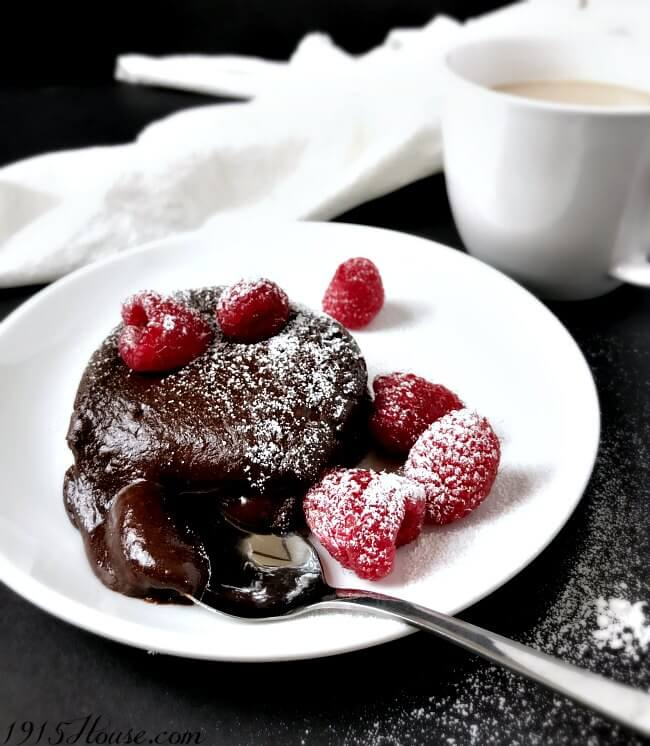 Individual Chocolate Lava Cakes For One