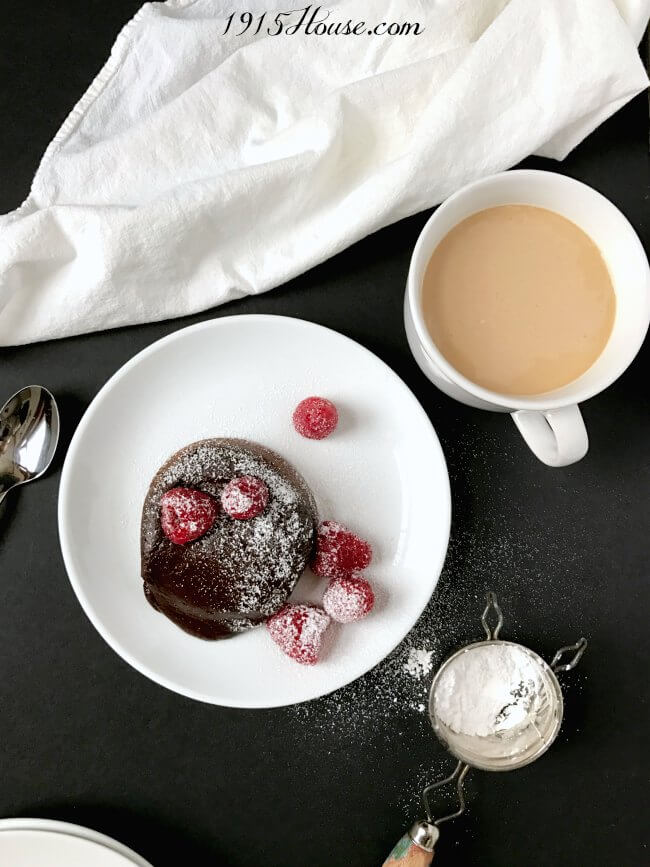 Chocolate molten lava cake with espresso - and some secret shortcuts! This is going to be my new go-to dessert recipe to whip up when I'm in a hurry!