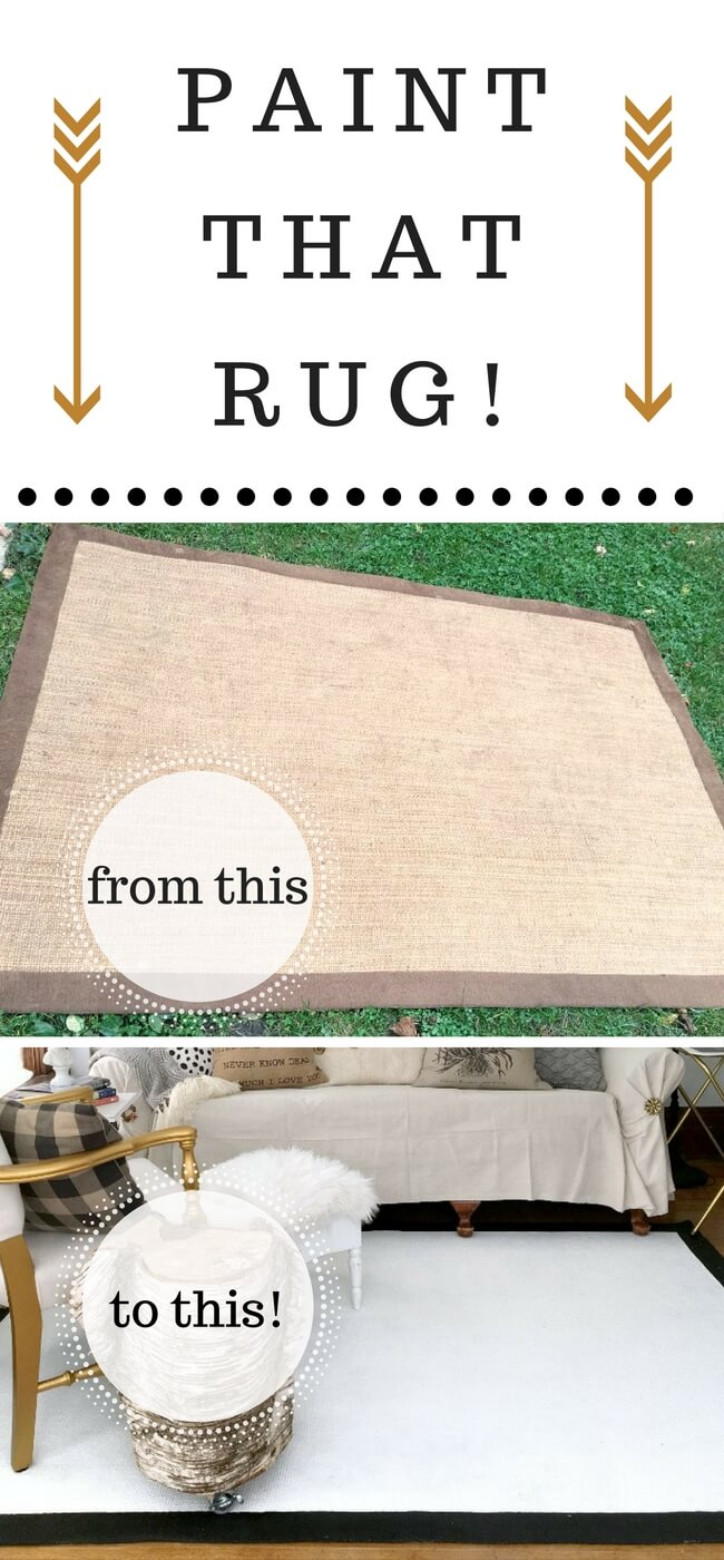 Easiest Painted Rug tutorial I've ever seen!