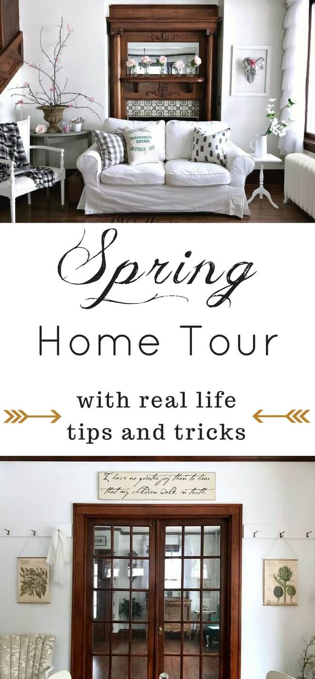 Spring home decor ideas that are simple and affordable. I will make some of these for my own home! Saving for later! Spring home tour | Spring decor | Budget friendly decorating