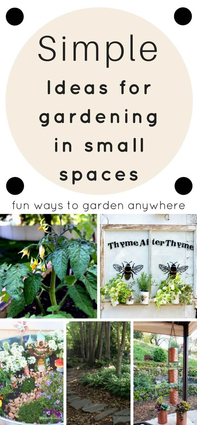 Garden ideas for small spaces. Things I can get started on TODAY! Gardening | Small space gardening | Garden ideas DIY | Garden |