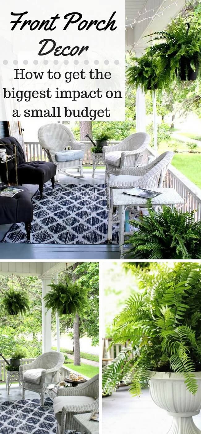 Create a cozy and inviting front porch - or any outdoor space - with thrifted finds and creative ideas.