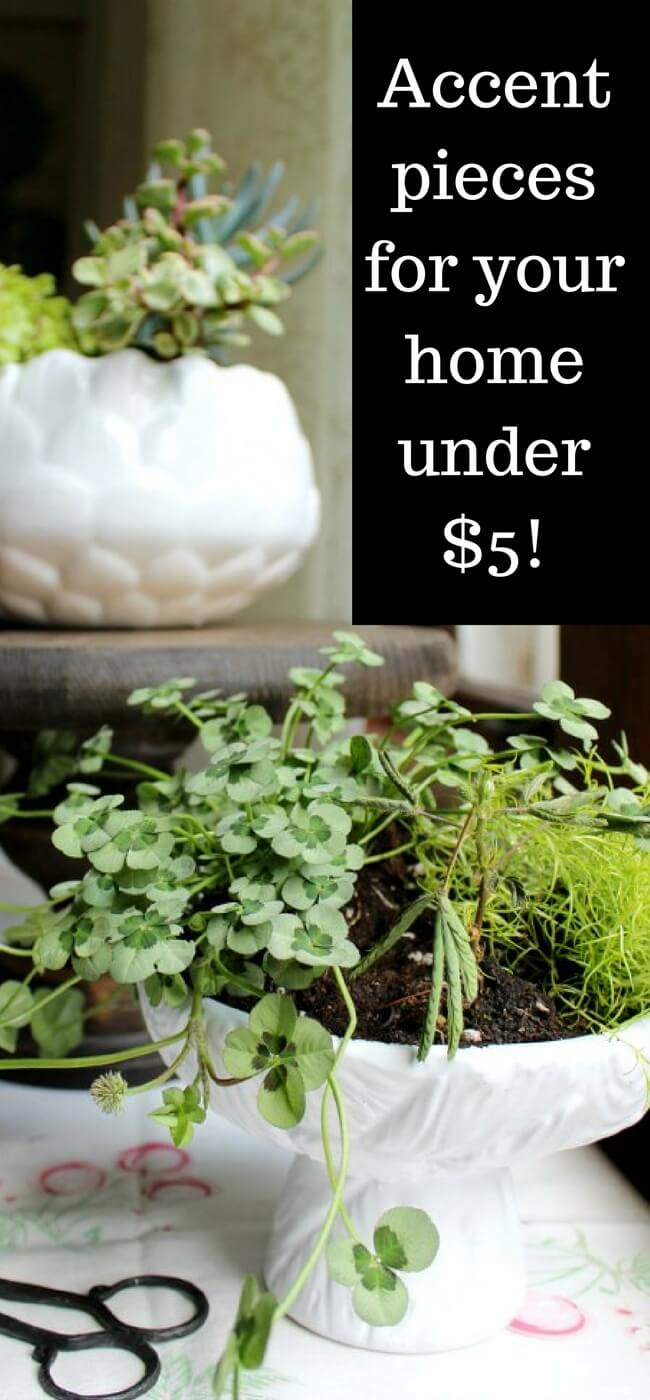 How to score home decor for under $5 with a little thrift store DIY - and with NO MESS! thrift store | DIY | Quick and easy | Upcycle | Home Decor
