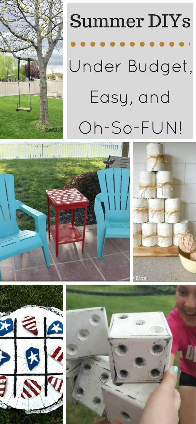 Simple Summer DIYs to create fun while staying under budget