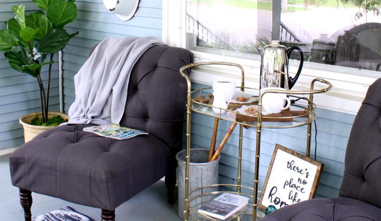 How to take thrifted and garage sale finds and turn them into a cozy outdoor space