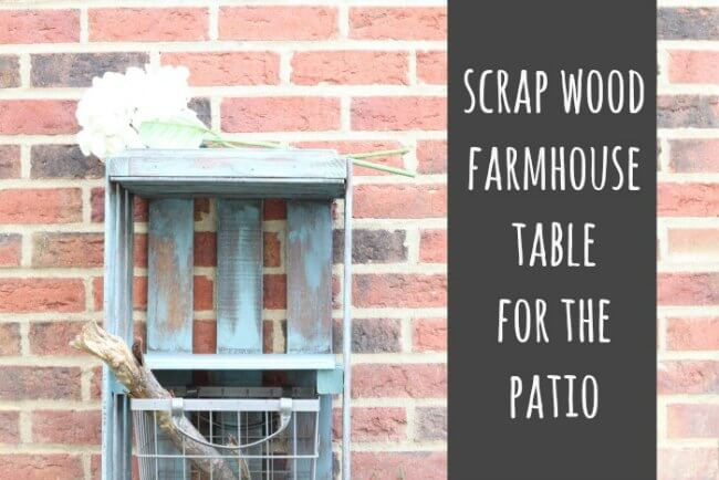 DIY summer furniture ideas-scrap-wood-table