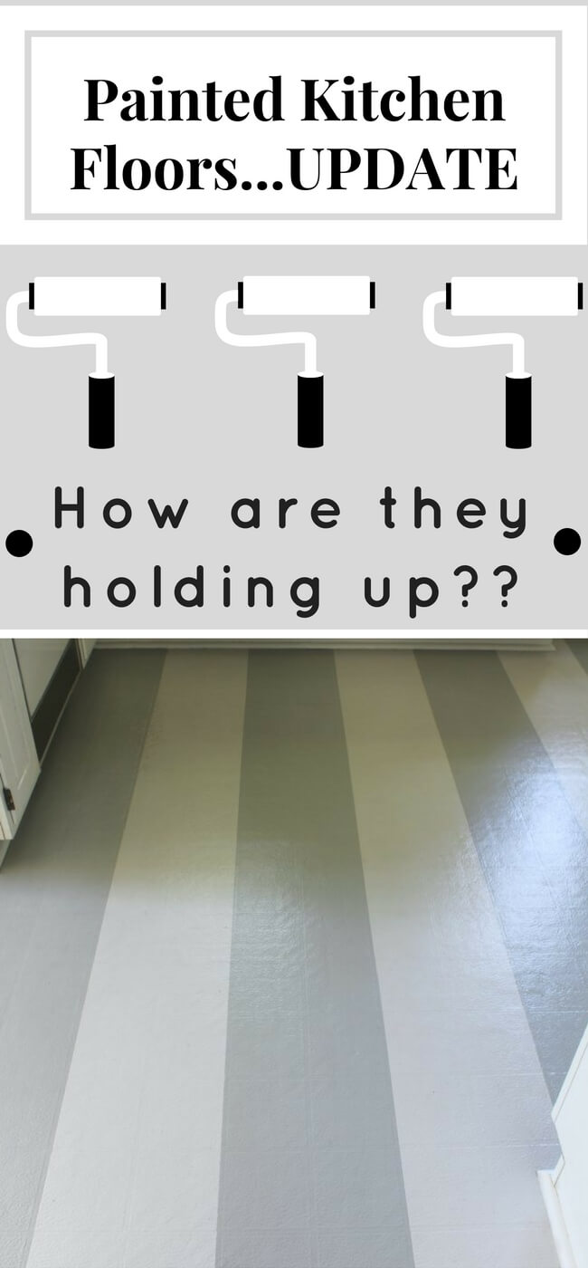 See how these painted kitchen floors are holding up after a year and a half of use and abuse! Was it worth it?