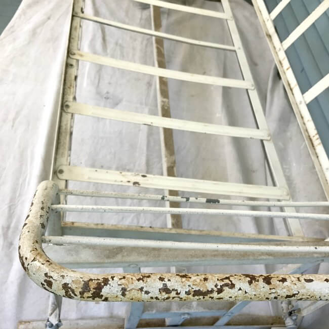 How to paint old rusty metal furniture with a sprayer that will change how you do all your DIY projects. It's faster, easier, and NO THINNING of paint necessary!