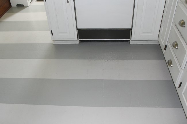 Painted kitchen floors - how they're holding up after a year and a half of use and abuse