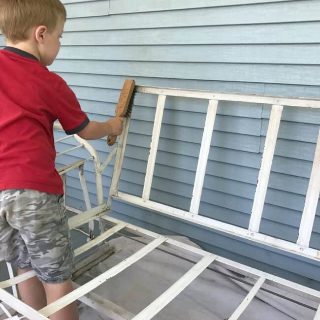 How to paint that old rusty metal furniture with a sprayer that will change how you do all your DIY projects. It's faster, easier, and NO THINNING of paint necessary!