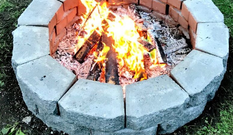 Build your own DIY fire pit in under two hours, for less than $70