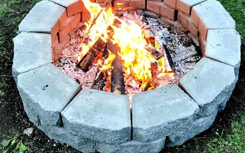 DIY Fire Pit in Under Two Hours