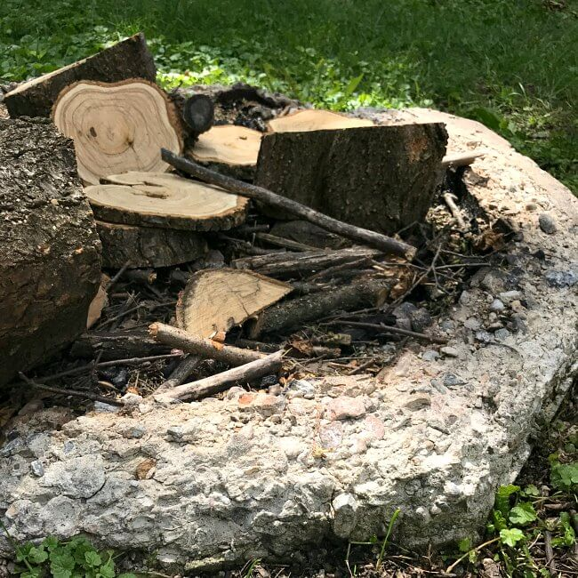 Get rid of that old broken-down fire pit and DIY a brand new one in under two hours
