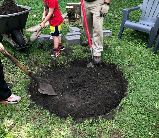 How to dig up a spot for a fire pit